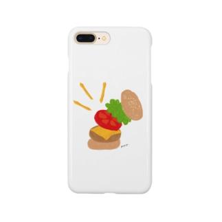 楽しくなっちゃうハンバーガー スマートフォンケース
