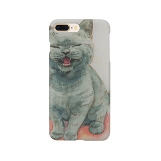 サイレントにゃ~ Smartphone cases