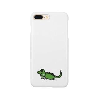 世界の動物「イグアナ」 Smartphone cases