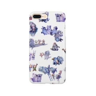 てっぺんのおへやスマホケース【怪獣たち】 Smartphone cases