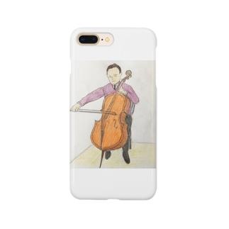 チェロを弾く人 Smartphone cases