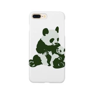 パンダの親子! Smartphone cases
