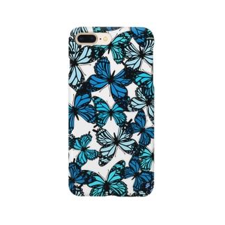 青い蝶 Smartphone cases