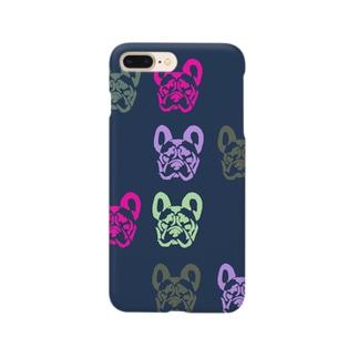 フレンチブルドッグ_colorful Smartphone cases