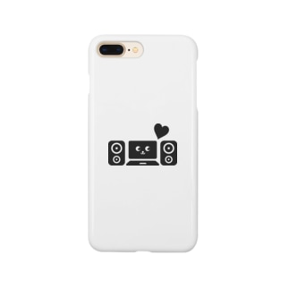 DTM音楽制作(黒) Smartphone cases