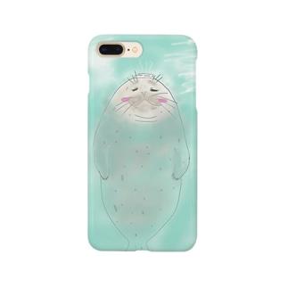 温泉アザラシさん Smartphone cases
