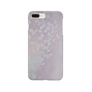 「今・盛りなり」 手染め ろうけつ染め桜 花びら Smartphone cases
