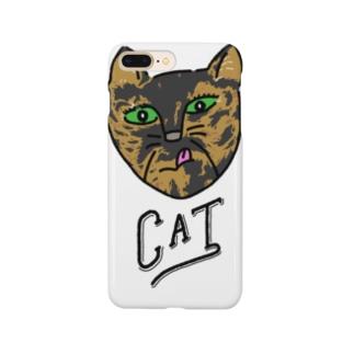 T34-SABI CAT simple Smartphone cases