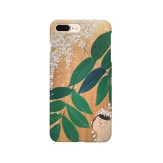 お花姫シリーズ  白い花 Smartphone cases