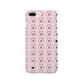 クオッカワラビーとおにぎり【ピンク】 Smartphone cases