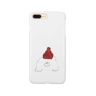 赤色帽子の北国クマさん スマートフォンケース