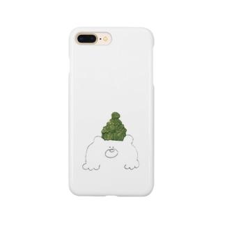緑色帽子の北国クマさん スマートフォンケース