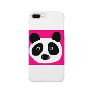 パンダ@ピンク Smartphone cases