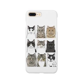 河原の野良猫たち1 Smartphone cases