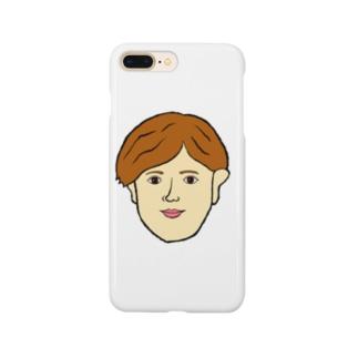天然パーマ Smartphone cases