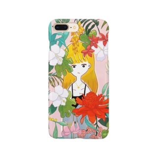 flower and girl Smartphone cases