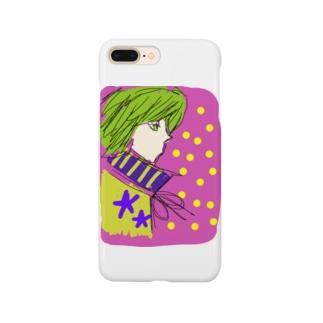 カロロファッション画横顔 Smartphone cases