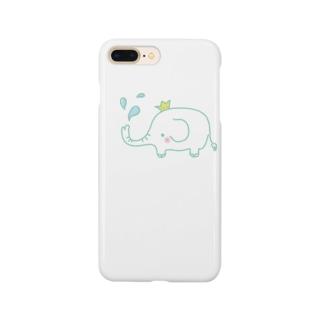 ゾウの水遊び! Smartphone cases