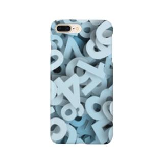 積み上げられた数字! Smartphone cases