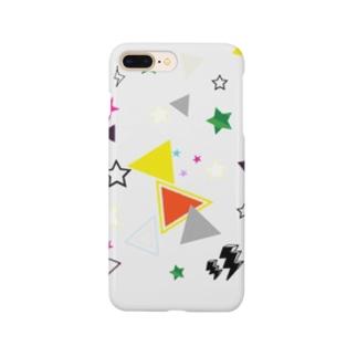 かくかく(白) Smartphone cases