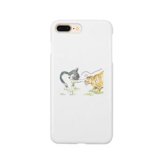 暇を持て余した猫たちの遊び Smartphone cases