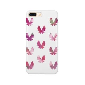 ちょうちょ(ぴんくのおはな) Smartphone cases