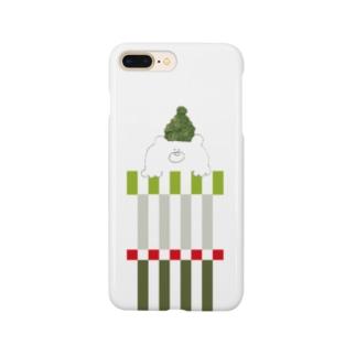 緑帽子の北国クマさん スマートフォンケース