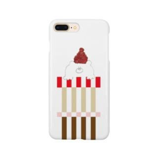 赤帽子の北国クマさん Smartphone cases