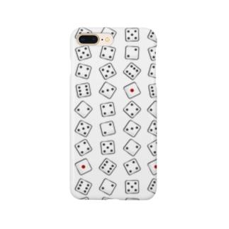 サイコロのめ柄! Smartphone cases