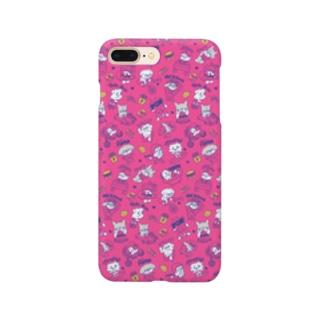 鼻ぺちゃわんさか PINK Smartphone cases