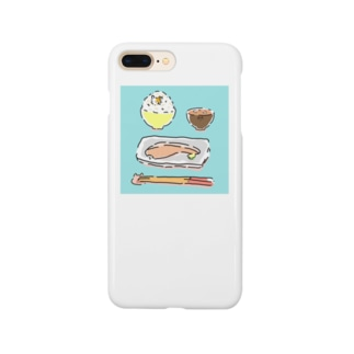 朝食にまぎれるハムスター(和食) Smartphone cases