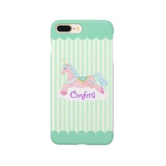 ユニコーンinライムドリーム Smartphone cases