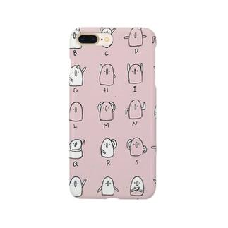 はにわ文字(さくら色) Smartphone cases