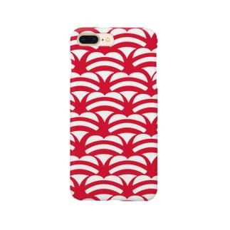 ハートの青海波 Smartphone cases