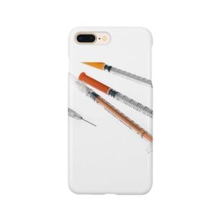 注射器(マイジェクター/トップ)風 Smartphone cases