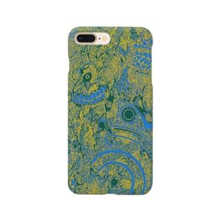 青黄模様 Smartphone cases