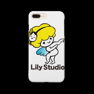 LILY STUDIOの招福の舞チーズ天使 Smartphone cases