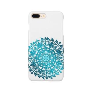波の曼荼羅 Smartphone cases