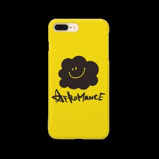 AFROMANCEのアフロマンス・ロゴ(Y)スマートフォンケース
