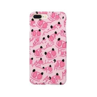 【総柄】ぶたのぷんちき左衛門 Smartphone cases