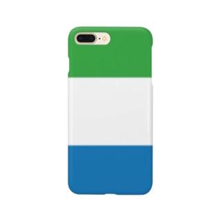 緑白青のストライプ Smartphone cases