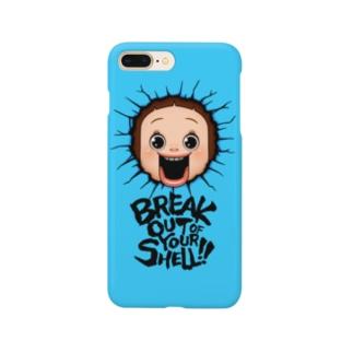 ブレイクしょーちゃん - ブルー Smartphone cases