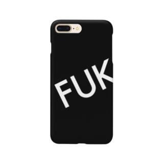 福岡シティ(FUK 黒) Smartphone Case