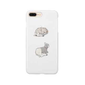 身を寄せ合う子羊 Smartphone cases