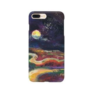 月夜の釧路湿原 Smartphone cases