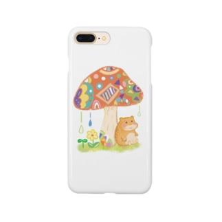 ハムちゃんの雨やどり Smartphone cases