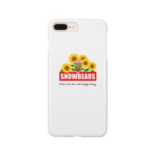 ひまわりとしろくま Smartphone cases