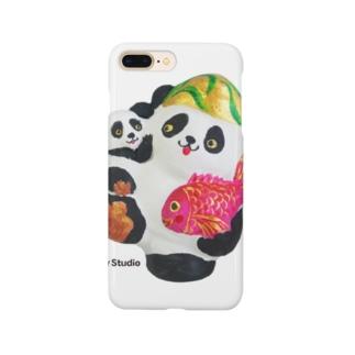 あっぱれ恵比寿パンダ親子 Smartphone cases