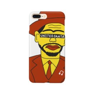 ユナイテッドおじさん 白 Smartphone cases