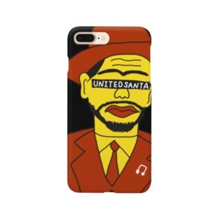 ユナイテッドおじさん 黒 Smartphone cases